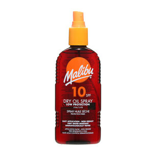 Malibu Sun Dry Oil Spray SPF10 200ml, , large