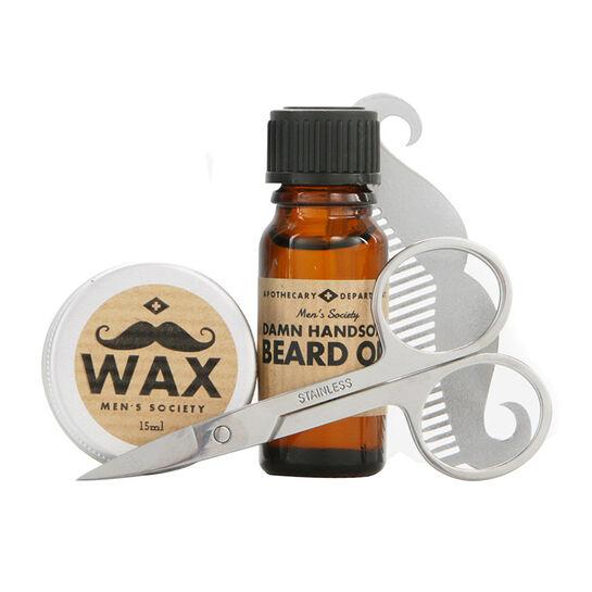 Men's Society Beard Grooming Kit, , large
