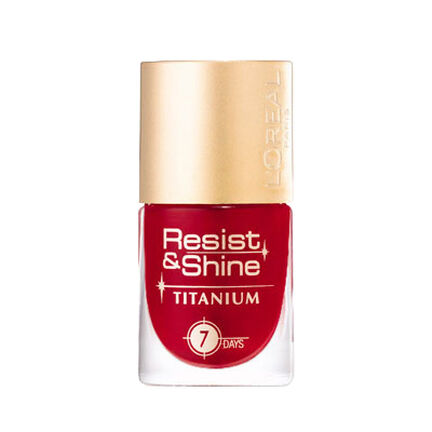 L'Oreal Resist and Shine Titanium Nail Polish 9ml, , large