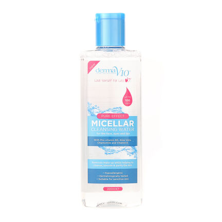 DermaV10 Micellar Cleansing Water 200ml, , large