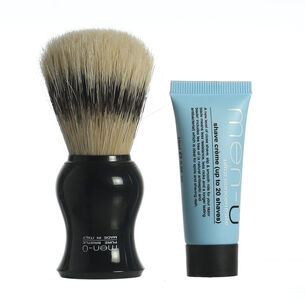 Men-u Barbiere Pure Bristle Shaving Brush & Stand 15ml, , large