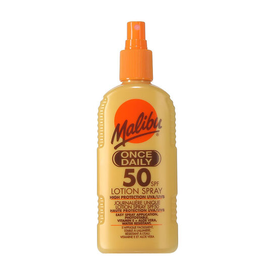 Malibu Once Daily Lotion Spray SPF50 200ml, , large