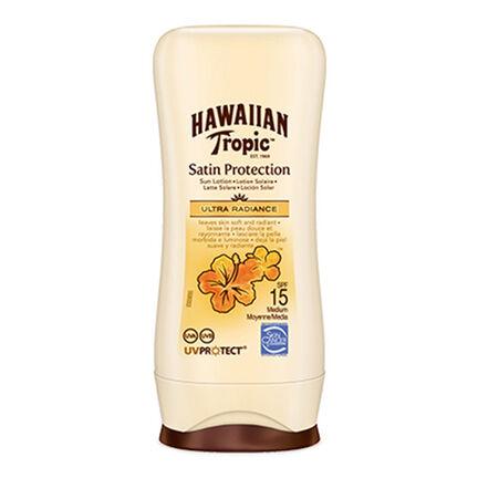 Hawaiian Tropic Satin Protection Sun Lotion SPF 15 100ml, , large