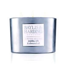 Baylis & Harding Jojoba Silk & Almond Oil Silver Candle, , large