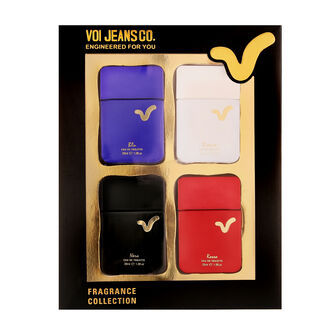 Voi Jeans Co Fragrance Collection Gift Set 4x 30ml, , large