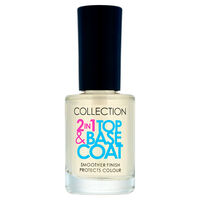 Collection 2 IN 1 Top And Base Nail Varnish Clear, , large