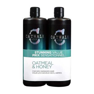 Tigi Catwalk Oatmeal & Honey Twin 2 x 750ml, , large