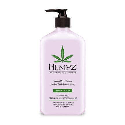 Hempz Vanilla Plum Herbal Body Moisturiser 500ml, , large