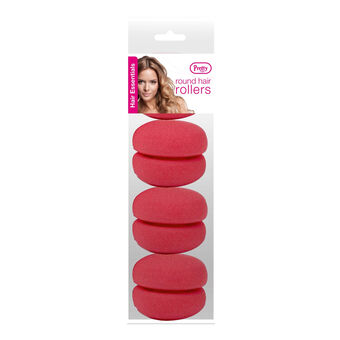 Pretty Hair Round Hair Rollers 4 Pack, , large