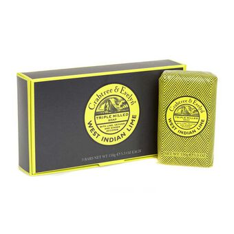 Crabtree & Evelyn West Indian Lime Soap Set 3x 150g, , large