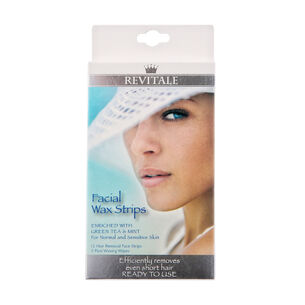 Revitale Facial Wax Strips 12 Pack, , large