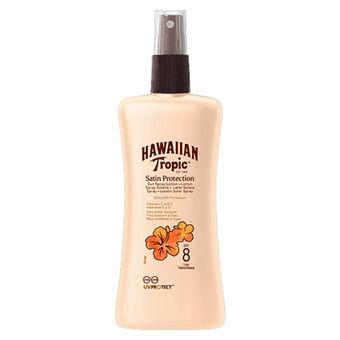 Hawaiian Tropic Satin Protection Spray Lotion SPF8 200ml, , large