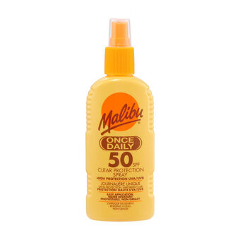 Malibu Once Daily Clear Protection Spray SPF50 200ml, , large