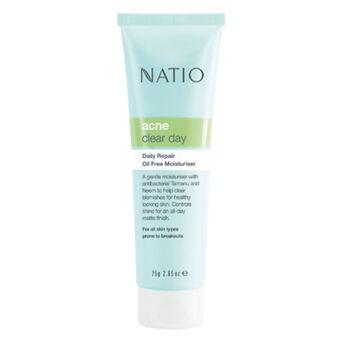Natio Acne Clear Day Daily Repair Oil Free Moisturiser 75g, , large