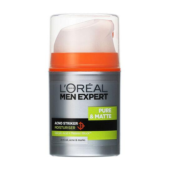 L'Oréal Men Expert Pure & Matte Acno Striker Moisturiser 50m, , large