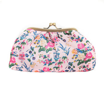 The Vintage Cosmetic Company Cosmetic Clutch Bag Satin, , large
