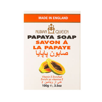 NUBIAN QUEEN Papaya Soap 100g, , large