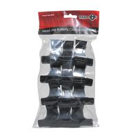 Hair Tools Butterfly Clamps Small Black Pack of 12, , large