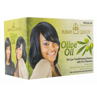 NUBIAN QUEEN Olive Oil No Lye Regular Relaxer 1 App, , large