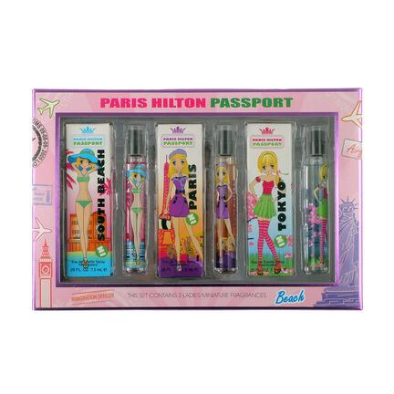Paris Hilton Passport Beach Eau de Toilette 3 x 7.5ml, , large