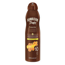 Hawaiian Tropic Protective Dry Oil Continuous Spray SPF10, , large