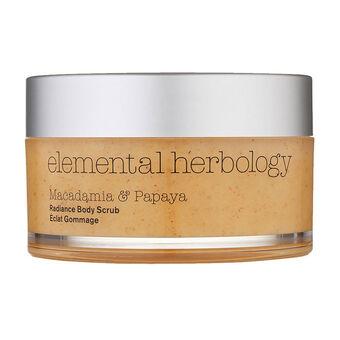 elemental herbology Macadamia and Papaya Body Scrub 200ml, , large