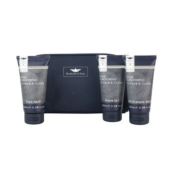 Heathcote and Ivory Fine Grooming Ultimate Travel Bag Set, , large