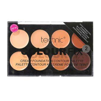 Technic Colour Fix Cream Foundation Contour Palette 2  28g, , large