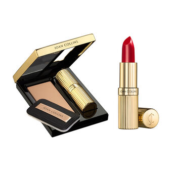 Joan Collins Compact Duo Lipstick & Powder, , large