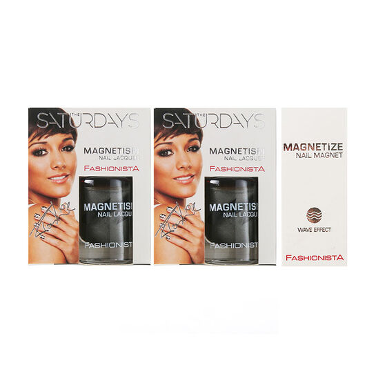 Fashionista The Saturdays Magnetism Nail Polish x2 10ml, , large