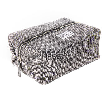 Pomp & Co Dropp Kit Tweed Toiletries Bag, , large