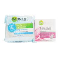 Garnier Anti Wrinkle Day Cream + Cleansing Wipes, , large