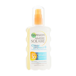 Garnier Ambre Solaire Clear Protect+ Protection Spray SPF30, , large