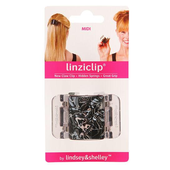 LinziClip Black and Grey Swirl Midi, , large