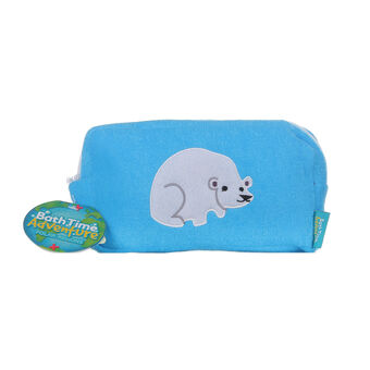 Bath Time Adventures Polar Bear Wash Bag, , large