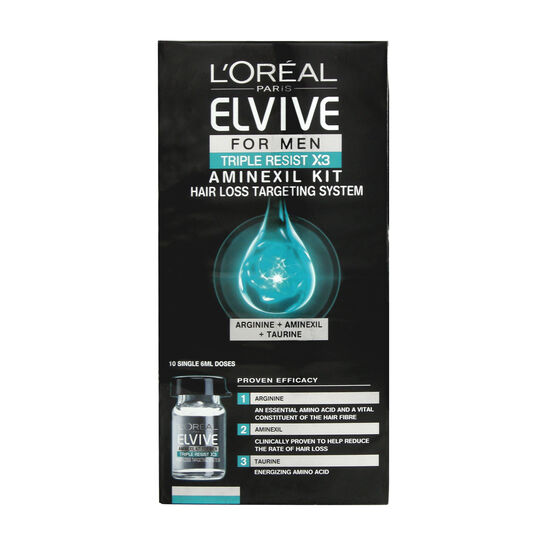 L'Oréal Elvive Men Triple Resist Aminexil Kit 10x6ml, , large