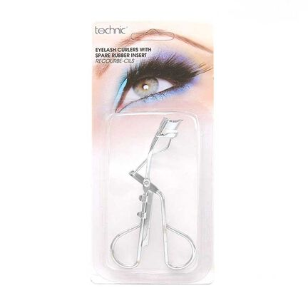 Technic Eyelash Curlers with Spare Rubber Insert, , large