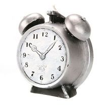 Levin Brothers Small Clock Candle Silver, , large