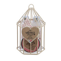 Body Collection Vintage Bouquet Birdcage Gift Set, , large