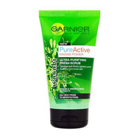 Garnier Pure Active Wasabi Face Scrub 150ml, , large