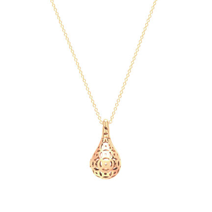 Flo Perfume Jewellery Teardrop Necklace Gold, , large