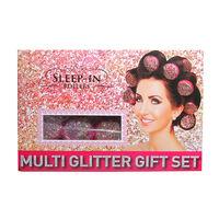 Sleep In Hair Rollers Multi Glitter Gift Set, , large