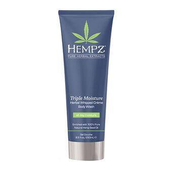 Hempz Triple Moisture Herbal Whipped Creme Body Wash 250ml, , large