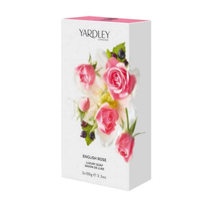 Yardley English Rose Soap Trio 300g, , large