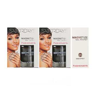 Fashionista The Saturdays Magnetism Nail Polish x2 10ml, , large