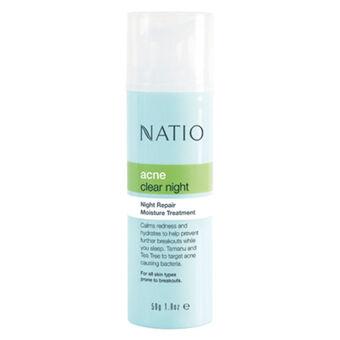 Natio Acne Clear Night Repair Moisture Treatment 50g, , large