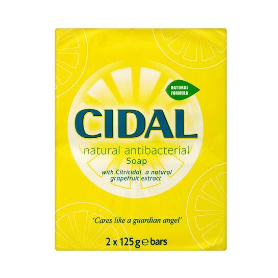 Cidal Natural Antibacterial Soap 2 x 125g, , large