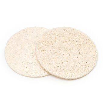 Basicare Natural Loofah Facial Pads, , large