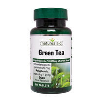 Natures Aid Green Tea 10,000mg 60 Tablets, , large