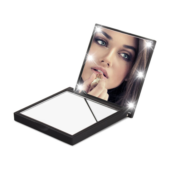 Flo Soft Touch Compact Mirror Black, , large